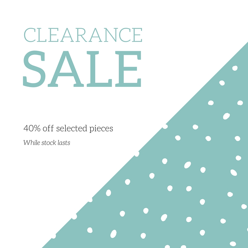 40% off selected pieces